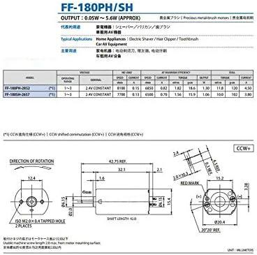 Gr/ö/ße : 1pc 1pc FF-180SH-2657 7700rpm Razor 2.4V Haarschneider Dc High Speed Motor Dedicated NO LOGO WJN-Motor