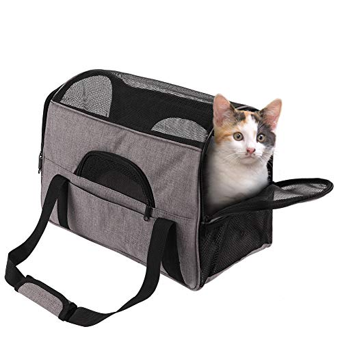 FREESOO Pet Carrier Airline Approved for Cats and Dogs,Cat Backpack Carrier Soft Sided Small Pets Travel Portable