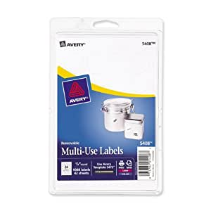 Avery Removable Print or Write Labels for Laser and Inkjet Printers, 0.75 Inches, Round, Pack of 1008 (5408)