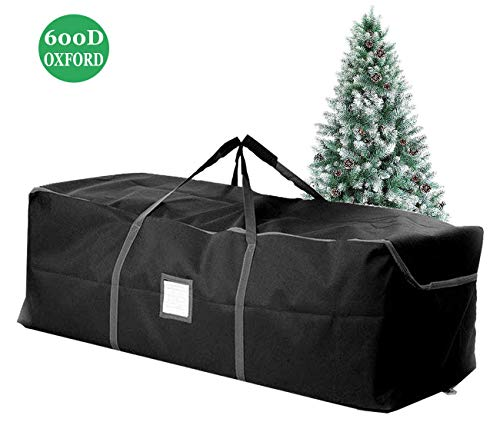 iiSPORT [2019 Newest] Large Christmas Tree Storage Bag - Xmas Holiday Storage Duffel Bag Containers w/Heavy Duy Handles & Double Sleek Zippers, 49