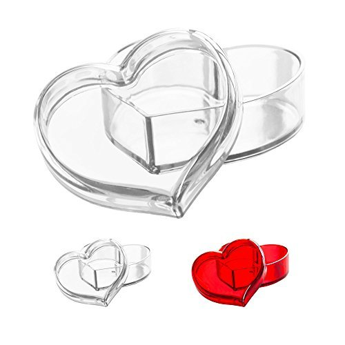 (Solly´s Clara Acrylic Heart Box Jewelry & Cosmetic Storage or Gift Box - Clear)