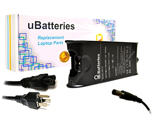 UBatteries Laptop AC Adapter Charger Dell Inspiron M731R - 19.5V, 65W
