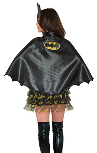 Rubie's Costume Co Women's DC Superheroes Batgirl Cape, Multi, One (Bat Halloween Makeup)