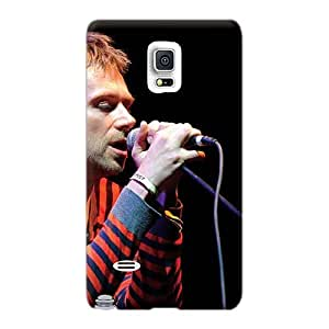 MarieFrancePitre Samsung Galaxy Note 4 Shockproof Hard Cell-phone Case Support Personal Customs Beautiful Gorillaz Band Image [qCG2662QnHG]