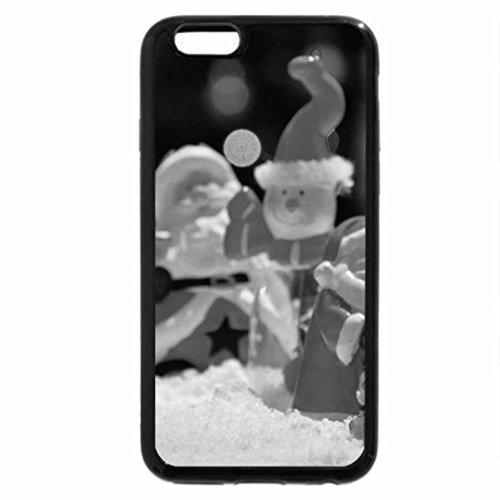 iPhone 6S Plus Case, iPhone 6 Plus Case (Black & White) - Beautiful Christmas