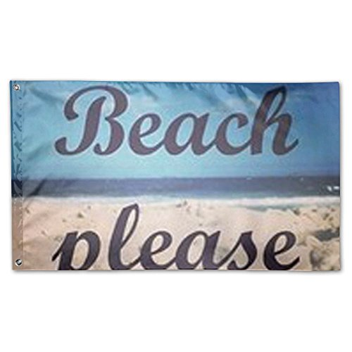 DFGTLY Decorative House Flags -Beach Please Outdoor Seasonal