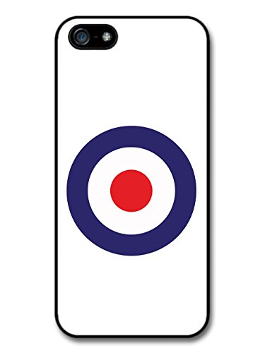 Classic Mod Target Design on White Minimalist Design case for iPhone 5 5S