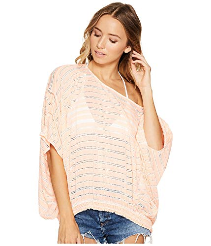 Free People Women's Azelea Top Coral Small ()