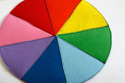 Big Felt Color Wheel Matching Sorting Educational Homeschool Classroom Material
