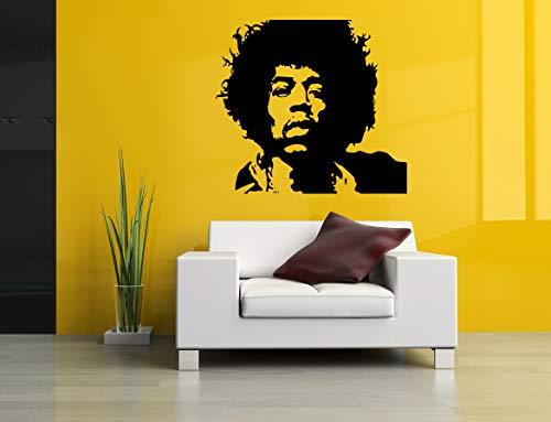 DC Design and Media Color Wall Vinyl Sticker Jimi Hendrix Artist Music Guitar Player Composer Rock Singer Poster Art Print Nursery Kids Room DC014 -