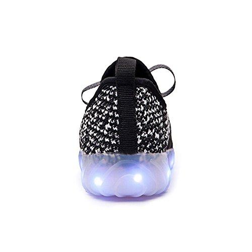 Black3 amp; Boys USB LakeRom Flashing Luminous Shoes LED Light Sneakers Charging Girls Lovely O74a4q5