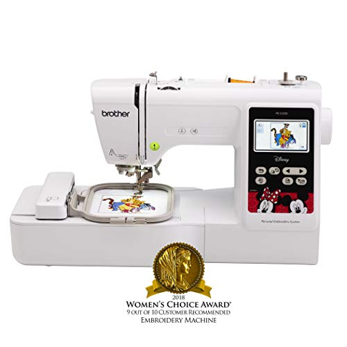 Brother Embroidery Machine, PE550D, 125 Built-In Designs, 45 Disney Designs, Large Color Touch LCD Display, Automatic Needle Threader, 25-Year Limited Warranty (Renewed)