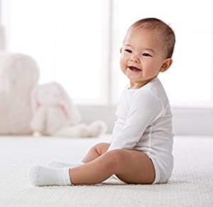 Gerber Unisex Baby 3-Pk L/S Onesies w/ Mitten Cuff