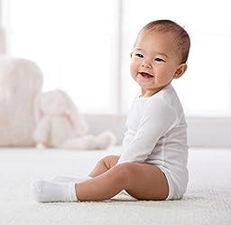Gerber Baby Unisex 6 Pack Socks, White, Preemie