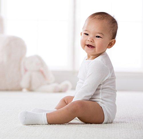 Gerber Baby Unisex 6 Pack Socks, White, 0-3 Months