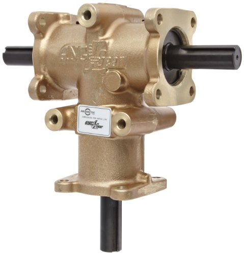 Andantex R3500-2 Anglgear Right Angle Bevel Gear Drive, Universal Mounting, Two Output Shafts, 3 Flange, Inch, 1