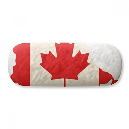 Red Maple Leaf Symbol Canada Country Flag Glasses Case Eyeglasses Clam Shell Holder Storage Box