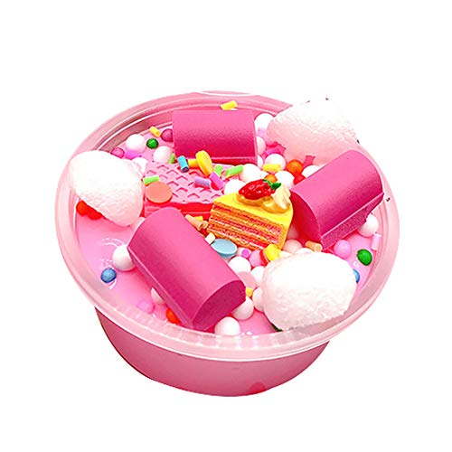 YuYe-xthriv DIY Cake Beads Soft Non Sticky Putty Mud Plasticine Slime Anti-Stress Kids Toy -