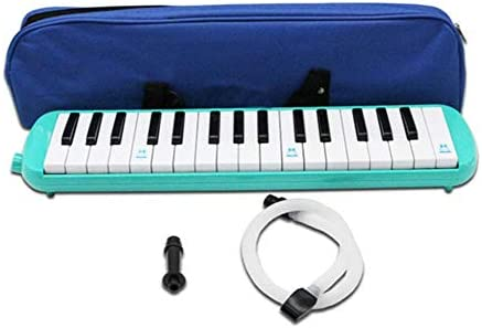 32 Key Melodica Piano Keyboard Harmonica Musical Instrument With Carry Bag Green