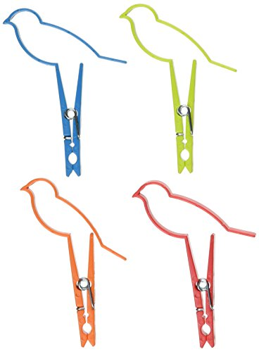 Design Ideas Sparrow Clips, Assorted Colors, Set of 4 by Design Ideas
