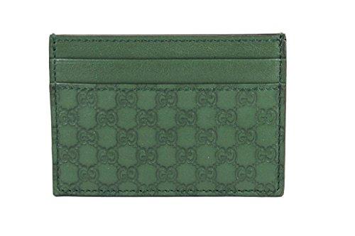 Gucci Microguccissima Leather Money Clip, Marsh Green 308915 - Leather Money Clip Wallet Gucci