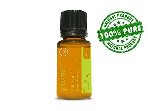 Pachuli 100% puros y naturales aceites esenciales por Yitshar - 15 ml - naturalmente promover nuevo crecimiento de células de la piel, mantiene la piel saludable, juvenil y reduce arrugas. SIDA en muchas condiciones de piel tales como acné, piel grasa, De