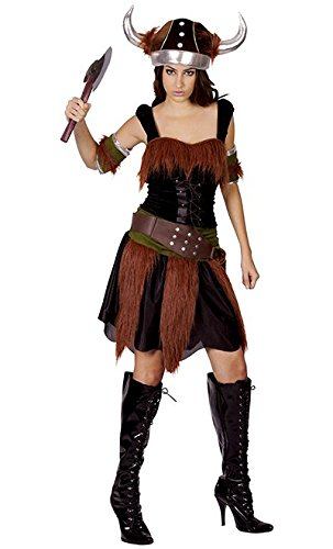 Ladies Viking Lady Costume for Historic Ancient Swedish Fancy Dress Outfit Adult by Partypackage Ltd -