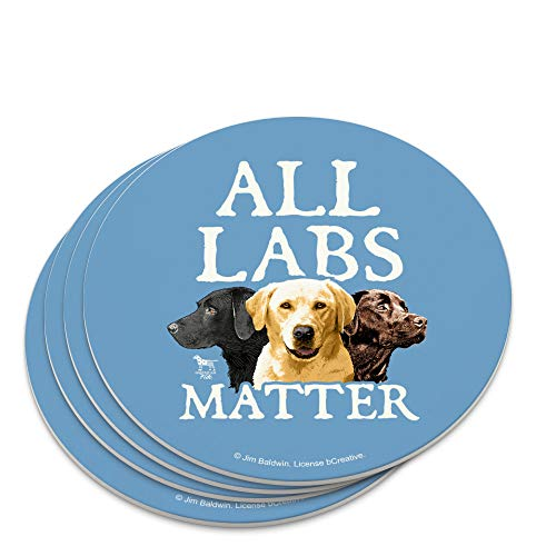 All Labs Matter Labrador Dogs Novelty Coaster Set