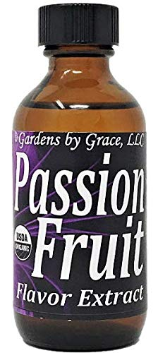 Organic Flavor Extract Passion Fruit | Use in Gourmet Snacks, Candy, Beverages, Baking, Ice Cream, Frosting, Syrup and More | GMO-Free, Vegan, Gluten-Free, 2 oz