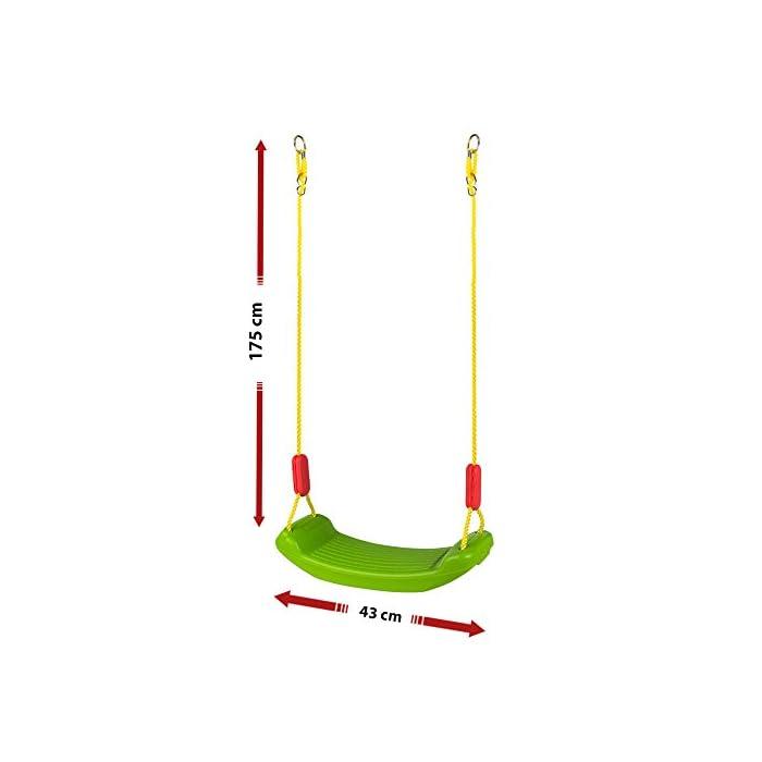 41%2BymYF25QL Columpio de plástico CB Toys Con 2 cuerdas de poliéster de 175 cm cada una Cuerdas regulables y super resistentes