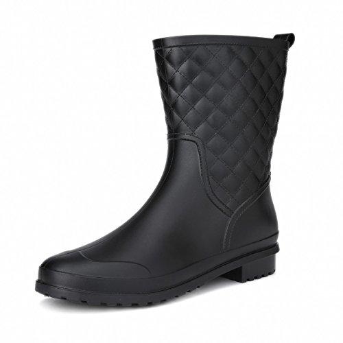 Rainy Show Block Heel Rain Boots for Women by Fashion Rain Shoe by Rainy Show