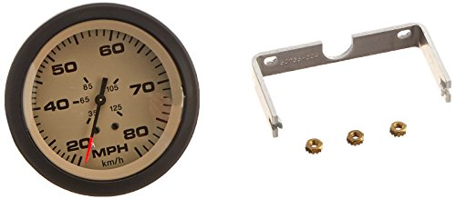 Sierra International 63076Ph Sahara Pitot Type 20 to 80 Mph Dial Range Speedometer Head, 3""