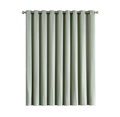 (Madison - 100% Blackout Curtains - 84 Inch Long - Newly Innovated - Eco Friendly - Light Weight Fabric with Grommets - Heat and Light Blocking Drapes (1 Patio Panel 110