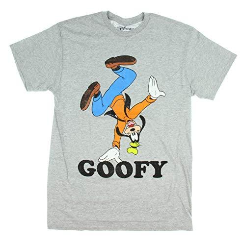Disney Goofy Classic Character Handstand Men's T-Shirt (Medium) Heather Grey ()