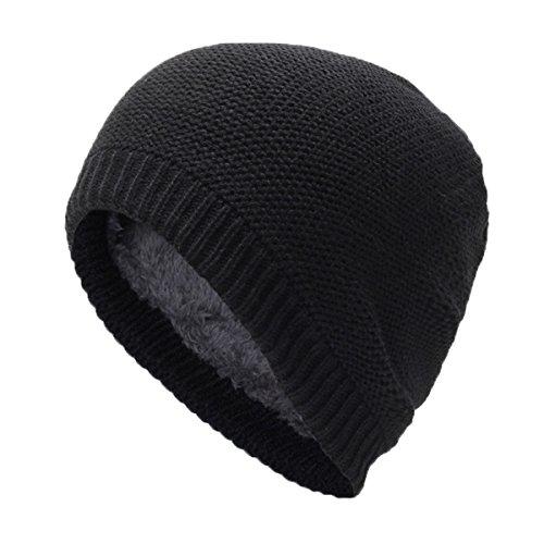 Hombres Invierno y Punto de Sombrero para Gorros Negro Punto Mujeres Hombre Gorrita qpf8zwB
