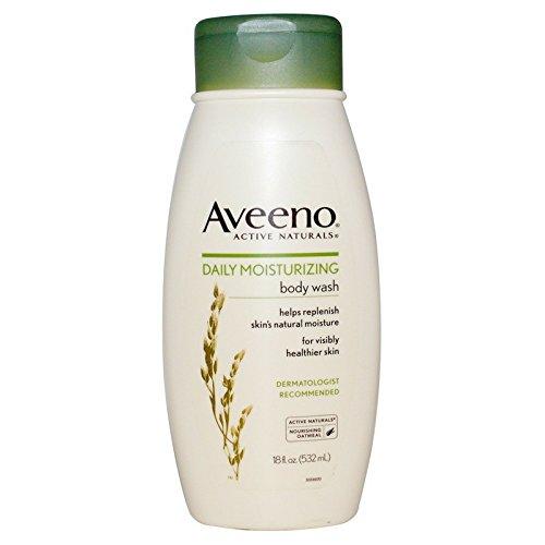AVEENO Active Naturals Daily Moisturizing Body Wash 18 oz (Pack of 2)