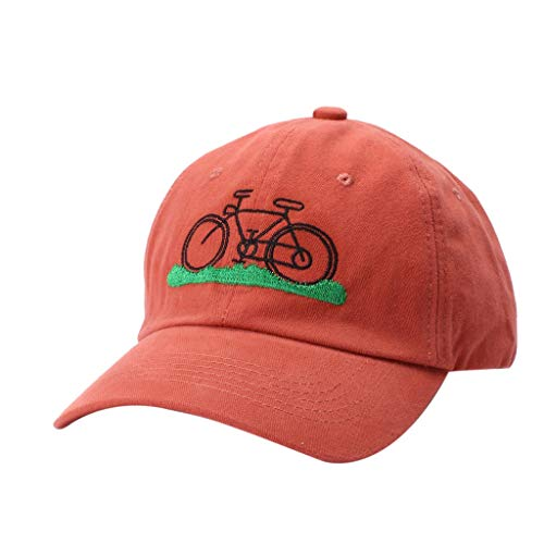 - Student Baseball Cap Candy Color Bicycle Embroidered Hat Spring and Summer Visor Cross-Country Sun Hats by 2DXuixsh Orange
