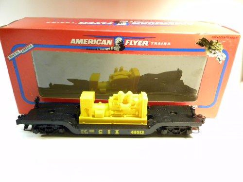 American Flyer 48513 CSX Depressed Center Flat Car with Generator S Gauge
