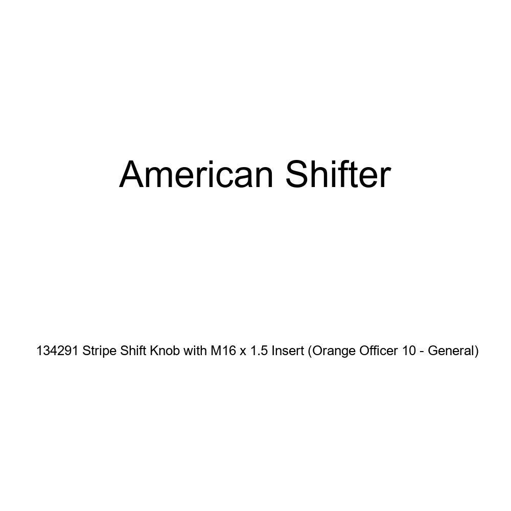 American Shifter 134291 Stripe Shift Knob with M16 x 1.5 Insert Orange Officer 10 - General