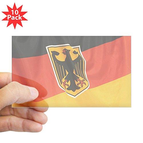 Sticker Clear (Rectangle 10Pk) German Flag Waving ()