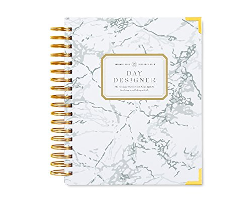 "Day Designer Daily Planner 2018 | Original Flagship | Best Day Planner | Goal Setting | Time Management | Productivity | 9"" x 9.75"" 