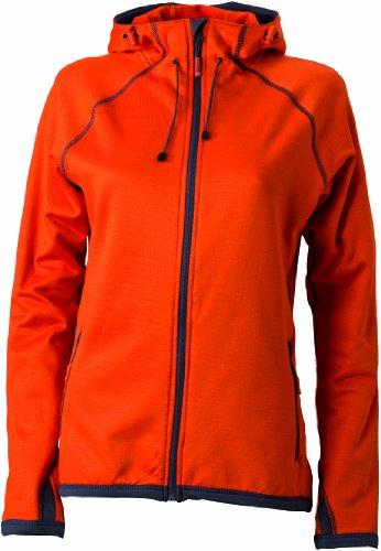 Hooded Carbon Naranja Chaqueta orange Ladies' técnica Nicholson James amp; Dark para mujer Fleecejacke q7CwX1BIx