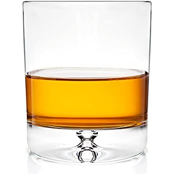 Stylish European Design Crystal Glasses By Ravenscroft Crystal- Premium Bourbon, Whisky, Double Old Fashioned Glasses- Set of 4- 11oz - Perfect Gift For Scotch Lovers- BONUS Microfiber Cleaning Cloth