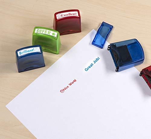 Moore Art 5 Piece Colorful Self Inking Motivation School Grading Teacher Stamp Set