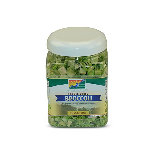 Mother Earth Products Freeze Dried Broccoli, Net Wt 3oz (85g) ()