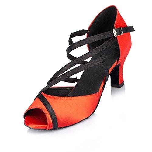 Miyoopark ,  Damen Tanzschuhe Red-7cm Heel