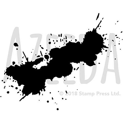 Azeeda A5 'Paint Splat' Wall Stencil / Template (WS00012452) ()