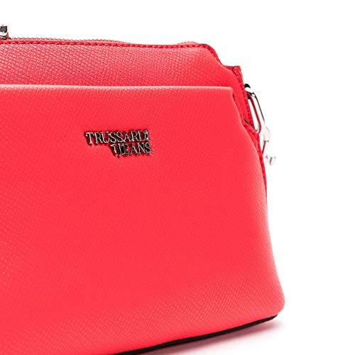 Rojo Marke Para Mujer Al Größe Bolso Jeans Hombro Trussardi 0f41Yqq