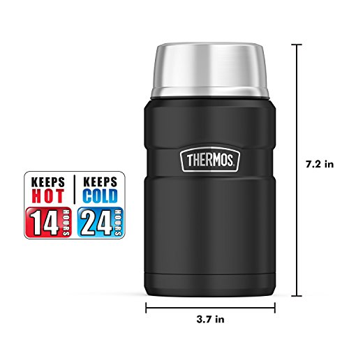 Thermos Stainless King 24 Ounce Food Jar, Matte Black