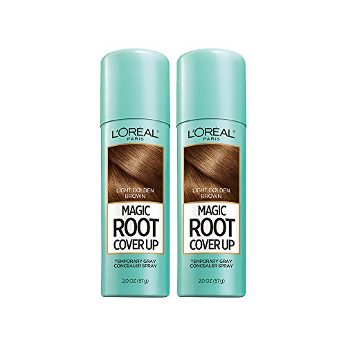 L'Oreal Paris Hair Color Root Cover Up Temporary Gray Concealer Spray Light Golden Brown (Pack of 2) (Packaging May Vary) for $<!--$16.56-->
